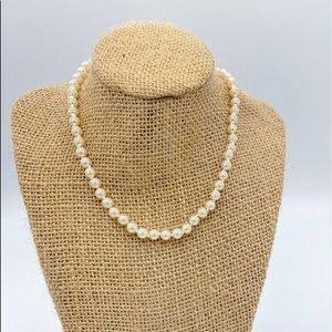 Vintage Genuine Glass Pearl Necklace